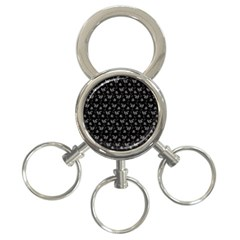 Floral pattern 3-Ring Key Chains