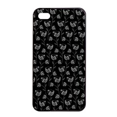 Floral pattern Apple iPhone 4/4s Seamless Case (Black)