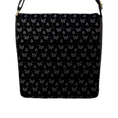 Floral pattern Flap Messenger Bag (L)