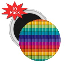 Pattern Grid Squares Texture 2 25  Magnets (10 Pack)