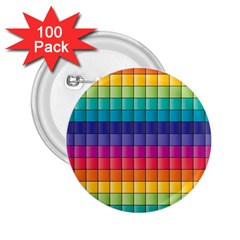 Pattern Grid Squares Texture 2.25  Buttons (100 pack)