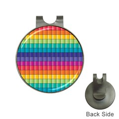 Pattern Grid Squares Texture Hat Clips With Golf Markers