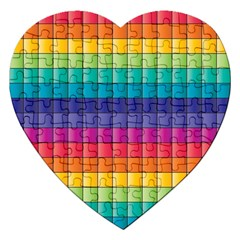 Pattern Grid Squares Texture Jigsaw Puzzle (heart)