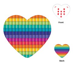 Pattern Grid Squares Texture Playing Cards (heart)