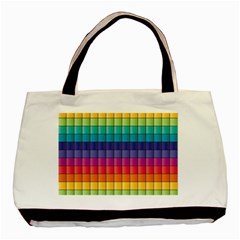 Pattern Grid Squares Texture Basic Tote Bag (two Sides)