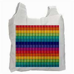Pattern Grid Squares Texture Recycle Bag (two Side)