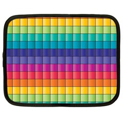 Pattern Grid Squares Texture Netbook Case (XL)