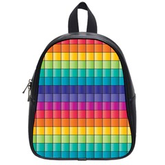 Pattern Grid Squares Texture School Bags (small)