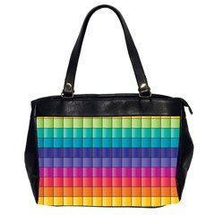 Pattern Grid Squares Texture Office Handbags (2 Sides)
