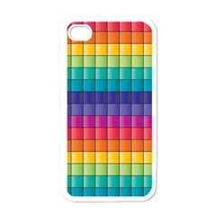 Pattern Grid Squares Texture Apple iPhone 4 Case (White)