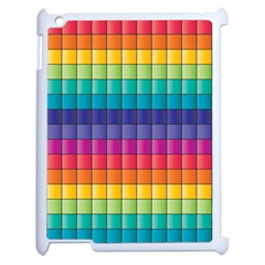 Pattern Grid Squares Texture Apple Ipad 2 Case (white)