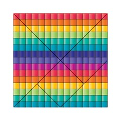 Pattern Grid Squares Texture Acrylic Tangram Puzzle (6  x 6 )