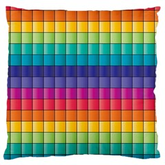 Pattern Grid Squares Texture Large Cushion Case (one Side)