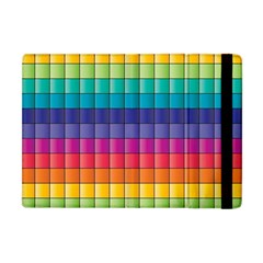 Pattern Grid Squares Texture Apple iPad Mini Flip Case