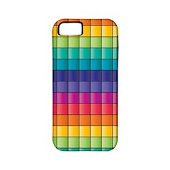Pattern Grid Squares Texture Apple Iphone 5 Classic Hardshell Case (pc+silicone)