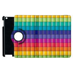 Pattern Grid Squares Texture Apple iPad 3/4 Flip 360 Case