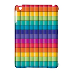 Pattern Grid Squares Texture Apple Ipad Mini Hardshell Case (compatible With Smart Cover)