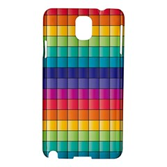 Pattern Grid Squares Texture Samsung Galaxy Note 3 N9005 Hardshell Case