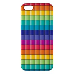 Pattern Grid Squares Texture iPhone 5S/ SE Premium Hardshell Case