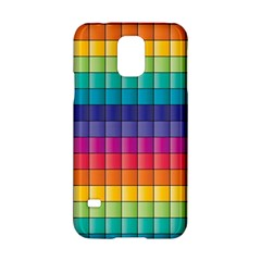 Pattern Grid Squares Texture Samsung Galaxy S5 Hardshell Case