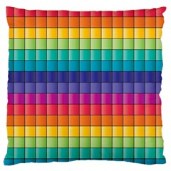 Pattern Grid Squares Texture Standard Flano Cushion Case (two Sides)