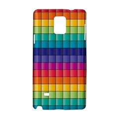 Pattern Grid Squares Texture Samsung Galaxy Note 4 Hardshell Case
