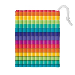 Pattern Grid Squares Texture Drawstring Pouches (extra Large)