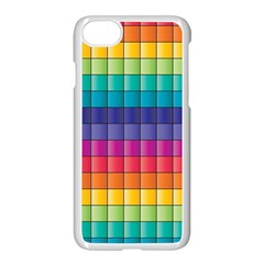 Pattern Grid Squares Texture Apple Iphone 7 Seamless Case (white)