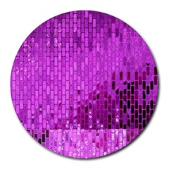 Purple Background Scrapbooking Paper Round Mousepads
