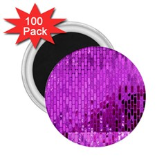 Purple Background Scrapbooking Paper 2 25  Magnets (100 Pack)