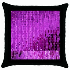 Purple Background Scrapbooking Paper Throw Pillow Case (Black)