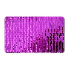 Purple Background Scrapbooking Paper Magnet (Rectangular)