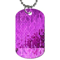 Purple Background Scrapbooking Paper Dog Tag (two Sides)