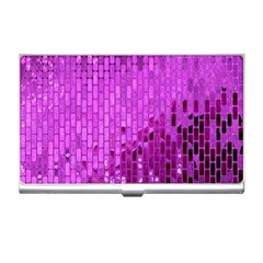 Purple Background Scrapbooking Paper Business Card Holders