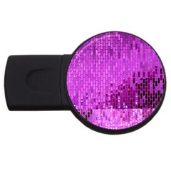 Purple Background Scrapbooking Paper Usb Flash Drive Round (2 Gb)