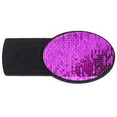 Purple Background Scrapbooking Paper Usb Flash Drive Oval (2 Gb)