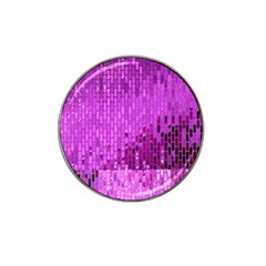 Purple Background Scrapbooking Paper Hat Clip Ball Marker (10 Pack)