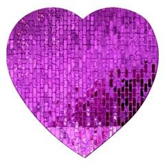 Purple Background Scrapbooking Paper Jigsaw Puzzle (heart)