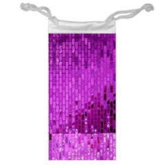 Purple Background Scrapbooking Paper Jewelry Bag