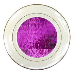 Purple Background Scrapbooking Paper Porcelain Plates