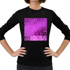 Purple Background Scrapbooking Paper Women s Long Sleeve Dark T Shirts