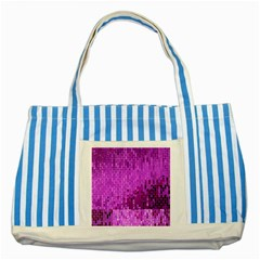 Purple Background Scrapbooking Paper Striped Blue Tote Bag