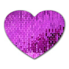 Purple Background Scrapbooking Paper Heart Mousepads