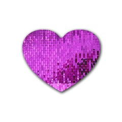 Purple Background Scrapbooking Paper Heart Coaster (4 Pack)