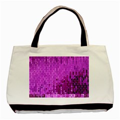 Purple Background Scrapbooking Paper Basic Tote Bag (two Sides)