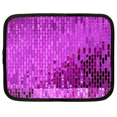 Purple Background Scrapbooking Paper Netbook Case (large)