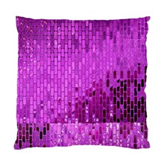 Purple Background Scrapbooking Paper Standard Cushion Case (two Sides)
