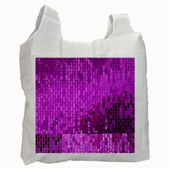Purple Background Scrapbooking Paper Recycle Bag (one Side)
