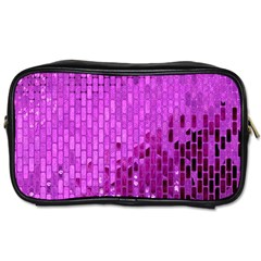 Purple Background Scrapbooking Paper Toiletries Bags