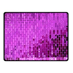 Purple Background Scrapbooking Paper Fleece Blanket (Small)